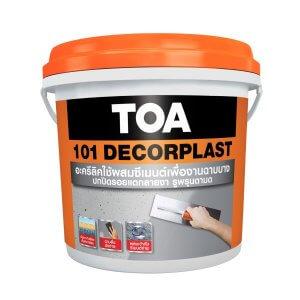 TOA 101 Decorplast ฉาบปรับผิวแบบบาง