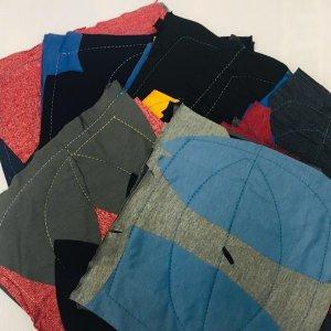 เศษผ้าเย็บวน 10x10นิ้ว แพ็ค 7ผืน