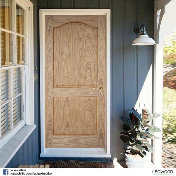 LeoDoor ประตูลูกฟัก 2 โค้ง 90x200 ซม. leowood