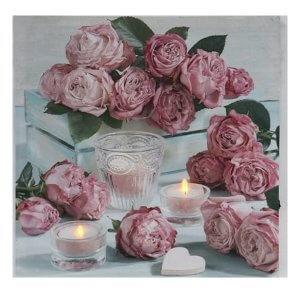 รูปภาพติดผนังรูปดอกกุหลาบ ขนาด 40x40 cm.