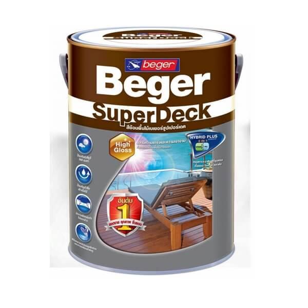 Beger SuperDeck สีทาพื้นไม้ภายนอก 3ลิตร
