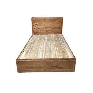 เตียงไม้สัก รุ่นเตียงทึบมุมมน 3.5 ฟุต