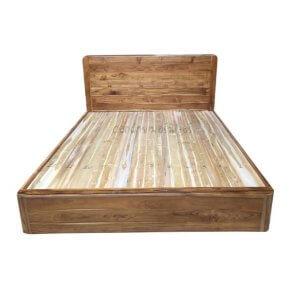 เตียงไม้สัก รุ่นเตียงทึบมุมมน 5ฟุต