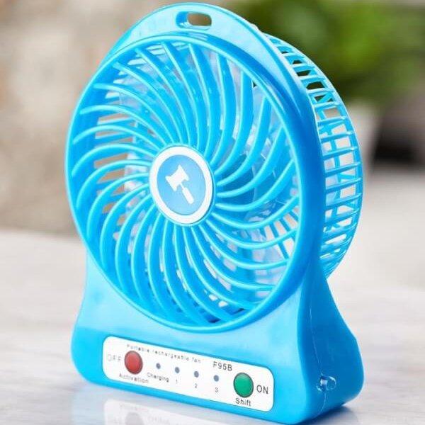 Portable Fan พัดลมพกพาชาร์ทได้พร้อมถ่าน