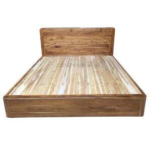 เตียงไม้สัก รุ่นเตียงทึบมุมมน 6ฟุต