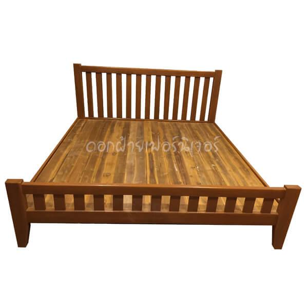 เตียงไม้สัก รุ่นซี่แบน 5 ฟุต