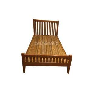 เตียงไม้สัก รุ่นซี่แบน 3.5 ฟุต