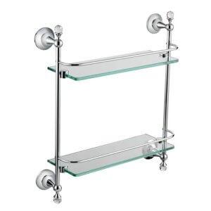 หิ้งกระจกติดผนัง 2ชั้น HAFELE 580.40.080