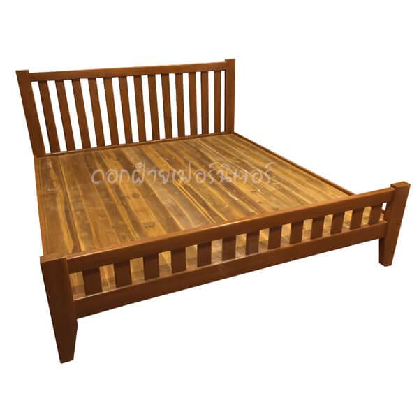 เตียงไม้สัก รุ่นซี่แบน 6 ฟุต