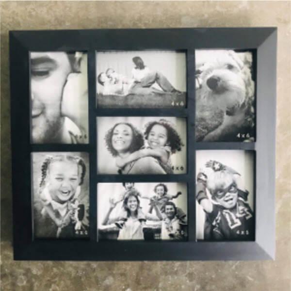 กรอบรูปไม้ยางพารา 7 ช่อง 4x6
