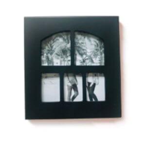 กรอบไม้ทรงหน้าต่าง 5ช่อง mini si008