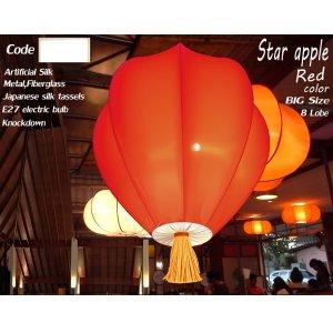 โคมไฟมะเฟือง 8 กลีบสีพื้น SAP8 Red
