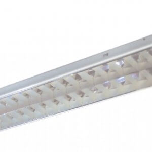 โคมตะแกรงฝังฝ้าอลูมิเนียมสะท้อนแสง T8 1x36W (30x120)