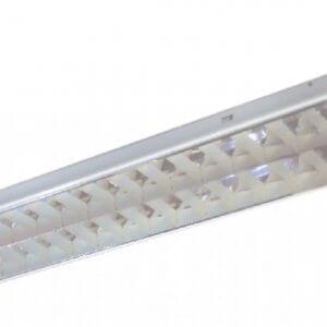 โคมตะแกรงฝังฝ้าอลูมิเนียมสะท้อนแสง T8 2x36W (30x120)