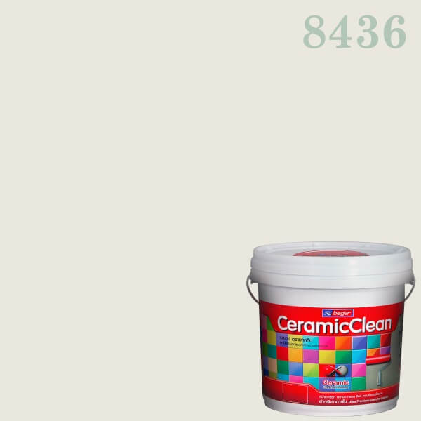 สีน้ำอะครีลิกชนิดด้าน 8436 เบเยอร์เซรามิกคลีน White Delight