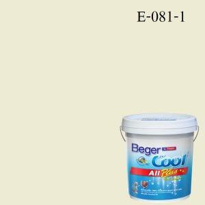 สีน้ำอะครีลิกภายนอก E-081-1 Beger Cool All Plus White Cap