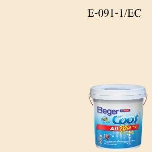 สีน้ำอะครีลิกภายนอก E-091-1 EC Beger Cool All Plus Cheesecake Cream