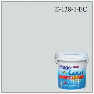 สีน้ำอะครีลิกภายนอก E-138-1 EC Beger Cool All Plus Black Lake