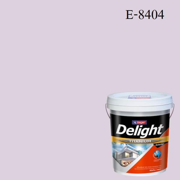 สีน้ำอะครีลิก ภายนอก E-8404 ดีไลท์ ไวโอเลท เคอร์เทน