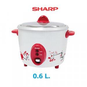 SHARP หม้อหุงข้าว 0.6 ลิตร รุ่นKSH-D06