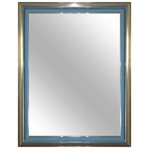 เฟรมพร้อมกระจกเงาสีเขียวเงิน VWM-4560