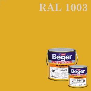 สีทาทับหน้าภายนอก RAL1003 ดูราเทน Signagelb ชุด กล