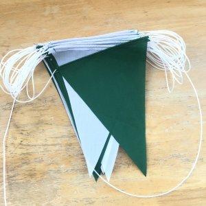 ธงราว เขียว-ขาว เนื้อผ้าโทเล ยาว15เมตร