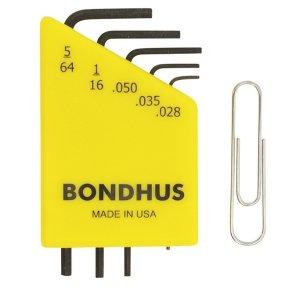 ชุดประแจหกเหลี่ยม-แบบเล็ก BONDHUS Miniature Set นิ้ว