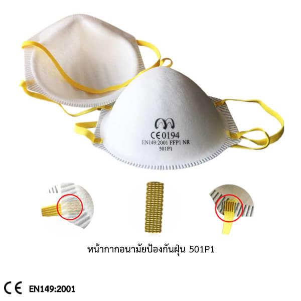 หน้ากากอนามัยป้องกันฝุ่น 501P1