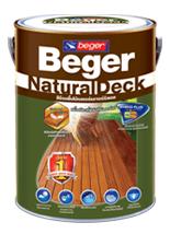 Beger สีย้อมไม้ ทาพื้น ฟิล์มเนียน ภายนอก 1 gl