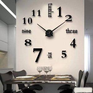 นาฬิกาติดผนัง 3D DIY ขนาด 90x90 cm.