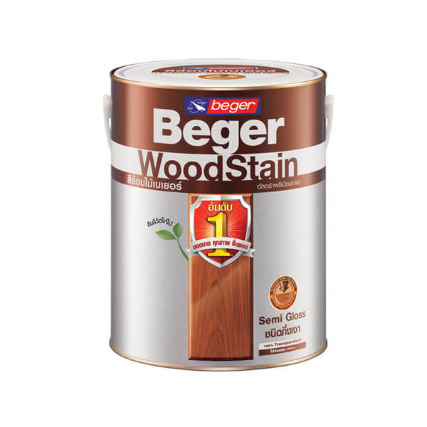 Beger สีย้อมไม้ ทาผนังภายในและภายนอก กึ่งเงา 1กล.