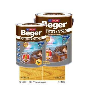 Beger ซูปเปอร์เดค สีย้อมพื้นไม้ ชนิดเงา/ด้าน Transparent