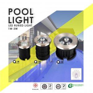 ไฟสระว่ายน้ำ Pool Light Series LED BURIED LIGHT
