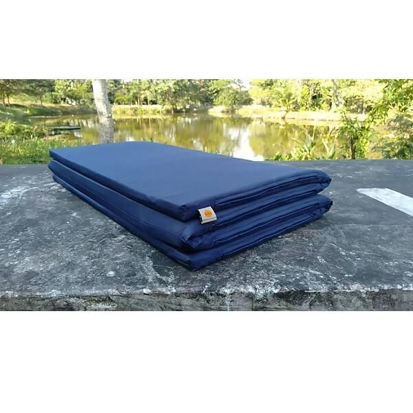 ที่นอนปิกนิกยางพารา รุ่น L – สีกรม ผ้ากันน้ำ กันไรฝุ่น