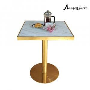 Anusarin โต๊ะรับประทานอาหาร 60 cm -Gold