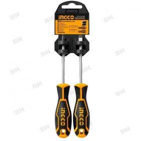 ชุดไขควงปากแบน/แฉก 2 ชิ้น INGCO HKSD0248