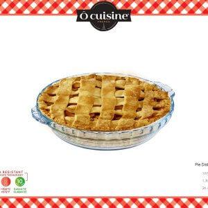 Ocuisine ถาดแก้วอบเค้กทรงกลมมีมือจับ ขนาด 23 ซม. สีใส