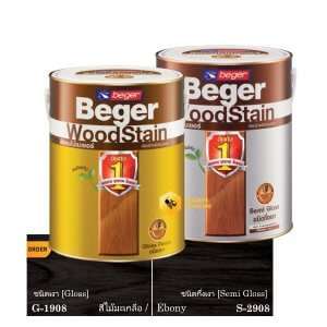Beger WoodStain Ebony สีย้อมไม้