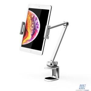 ขาวางแบบยึดขอบโต๊ะ iPad Swivel Long Arm Clamp Stand