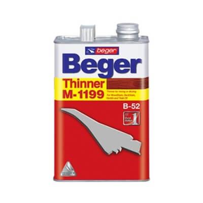 Beger Thinner M-1199 สำหรับผสมสีย้อมไม้ 1/4แกลลอน