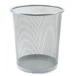 ตะกร้าถังขยะ ตะแกรงสีขาว