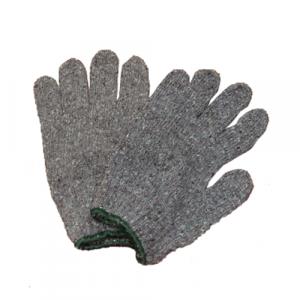 ถุงมือผ้า หนา เทา