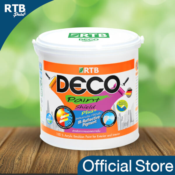 RTB Paint (ชนิดกึ่งเงา) Deco Paint สีทาอาคารภายนอก1 gal.
