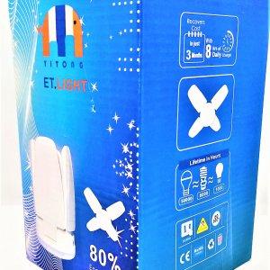 หลอด Bulb LED 60W ทรงใบพัดพับได้ Daylight E27 ประหยัดไฟ 80เปอร์เซ็น