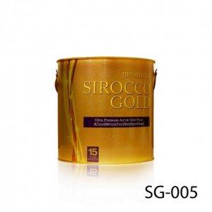 สีน้ำอะครีลิคทองคำเอ็มเพอะเรอะโกลด์ เจบีพี ชิลด์ซีรอคโคโกลด์ SG-009 สูตรน้ำ 1/4 แกลลอน