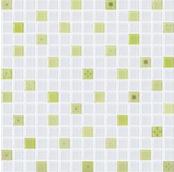 COTTO โมเสค กลาส เบลนด์ ฟลอร่า01 เขียว(06S)12x12GA