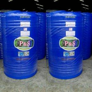 แทงค์น้ำ ขนาด 500 ลิตร - 5000 ลิตร สีน้ำเงิน PE P&S
