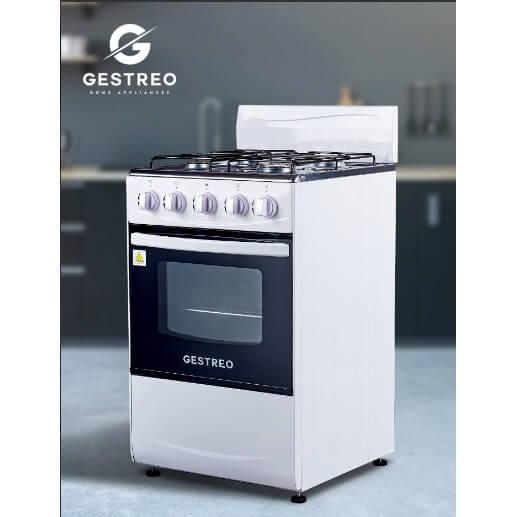 GESTREO เตาแก๊ส 4 หัว พร้อมเตาอบ รุ่น GS-K50-Q01W
