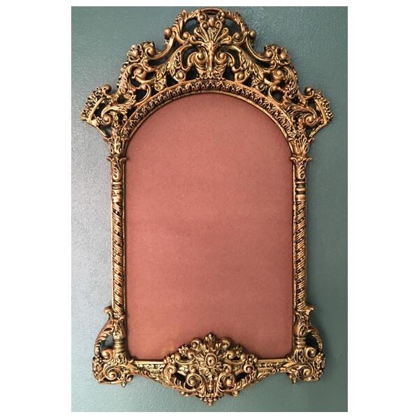 บานกระจกอัลลอยด์สีทอง 54.5 x92 cm.